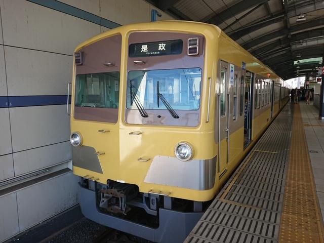 東京競馬場へ:西武多摩川車両 わずか4両の電車