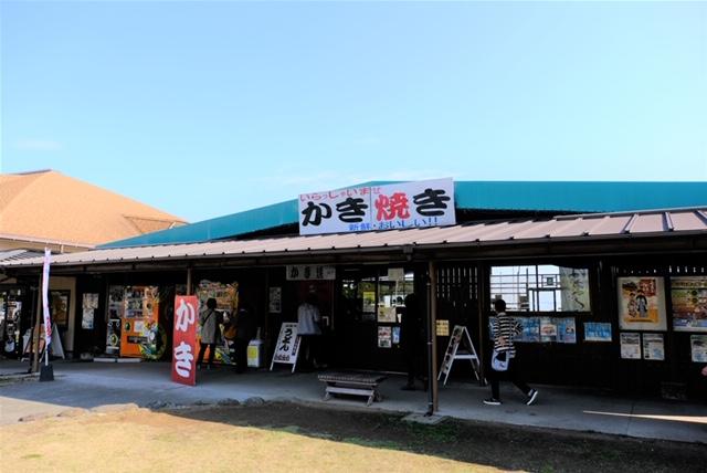 道の駅「唐津」にあるカキ焼き小屋